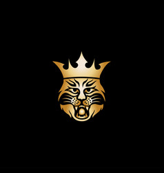 king tiger logo vector image
