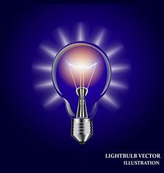 lightbulb isolated vector image