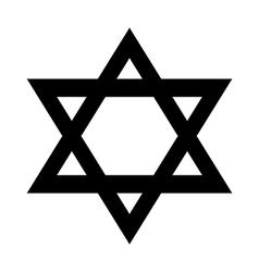 Magen David icon vector
