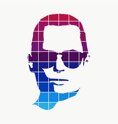 man avatar profile view vector image