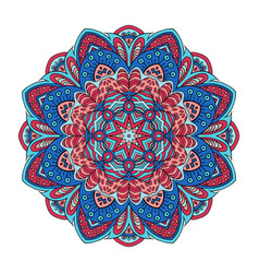 Mandala zentangl ornament doodle drawing round vector