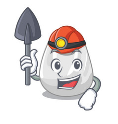 miner plastic bag mascot cartoon vector image