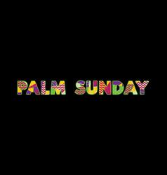 Palm sunday concept word art vector