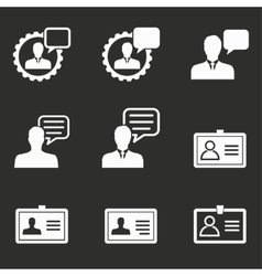 Personal icon set vector image