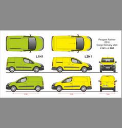 Peugeot partner cargo van l1h1 l2h1 2016-present vector
