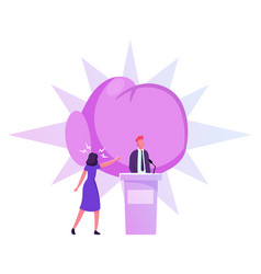 politics debate voting and election concept pre vector image