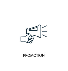 Promotion concept line icon simple element vector