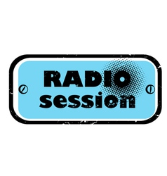 radio session vector image