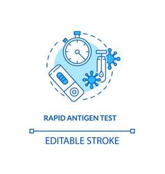 Rapid antigen test concept icon vector
