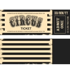 Retro circus ticket vector