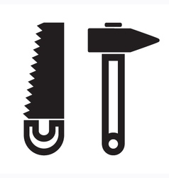 Saw Hammer vector image