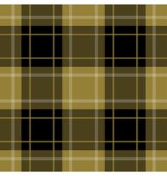 Seamless gold black tartan with stripes vector