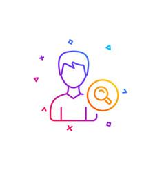 search user line icon male profile sign vector image