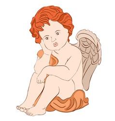 Serene angel vector
