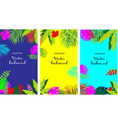 set all for summer holiday beach accessori vector image
