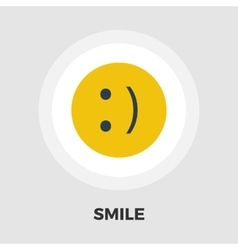 Smile icon flat vector image