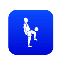 soccer player man icon digital blue vector image