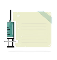 syringe medical layout template modern vector image