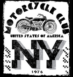 t-shirt or poster design with of a motorcycle vector image