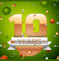 ten years anniversary celebration design vector image