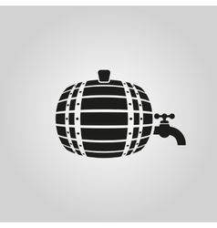 The Barrel icon Cask and keg beer symbol UI vector image