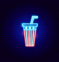 usa drink neon sign vector image