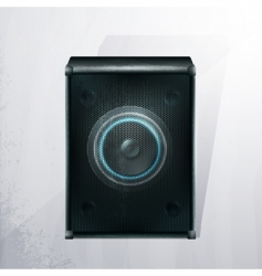 vector musical speaker icon vector image