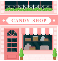 vintage candy shop confectionery house building vector image