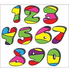 colorful cartoon numbers set vector image vector image