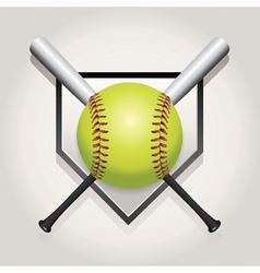 Softball Bat Plate vector image vector image