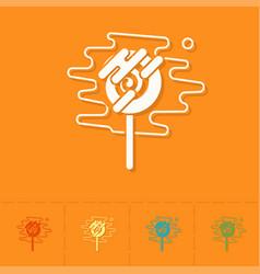 spiral lollipop modern flat icon vector image vector image