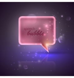 with pink speech bubble vector image