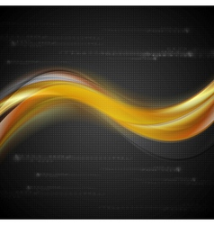 Bright wavy concept backdrop vector