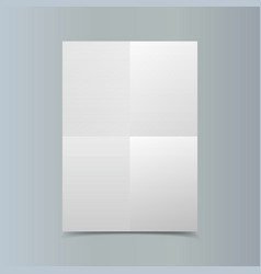 Empty vertical white paper poster mockup on vector image vector image