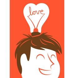 Love lightbulb in shape of heart vector image vector image