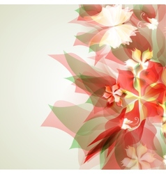 Abstract artistic Background with red floral vector image