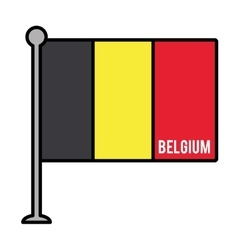 belgium patriotic flag isolated icon vector image vector image