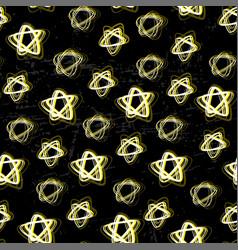bright stars seamless pattern night sky electric vector image