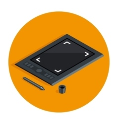 Graphic tablet vecot icon vector image vector image