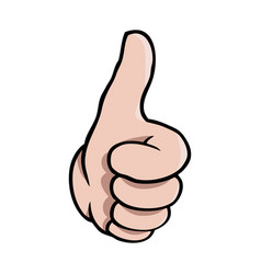human cartoon hand showing a thumbs up vector image