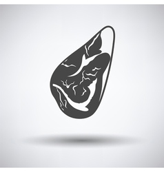 Meat steak icon vector image