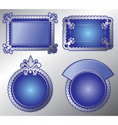 ornate label vector image vector image