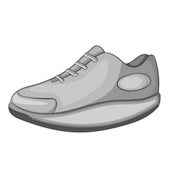 Sneakers icon gray monochrome style vector image