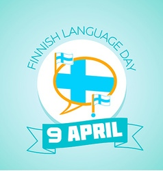 9 April Finnish Language Day vector image