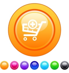 Add to cart circle button vector image vector image