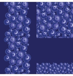 Blueberries seamless pattern background vector image vector image