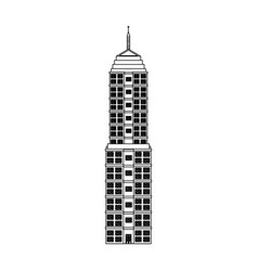 building urban windows facade image outline vector image vector image