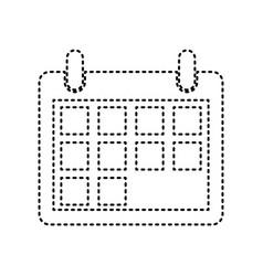 calendar sign black dashed vector image vector image