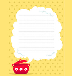 cooking receipts template vector image