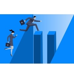 Gender inequality on career path vector image